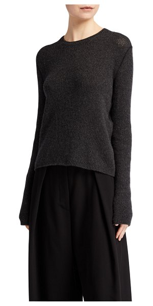 THE ROW Imani Cashmere Sweater in charcoal