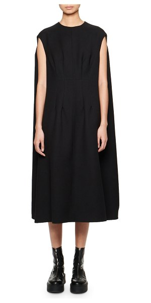 THE ROW Isandra Cape-Back Shift Dress in black