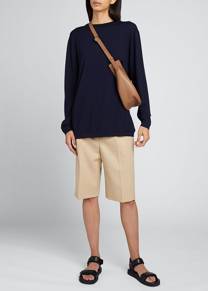 THE ROW Marco Knee-Length Shorts in beige