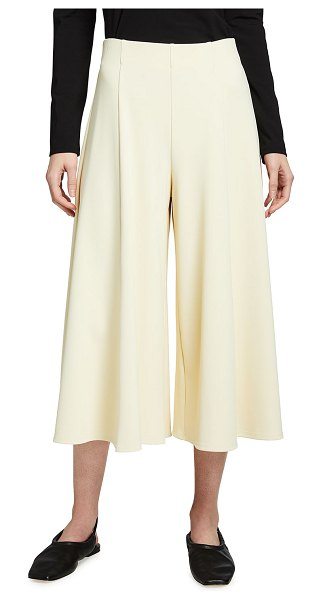 THE ROW Mildro High-Rise Cropped Wide-Leg Pants in cream