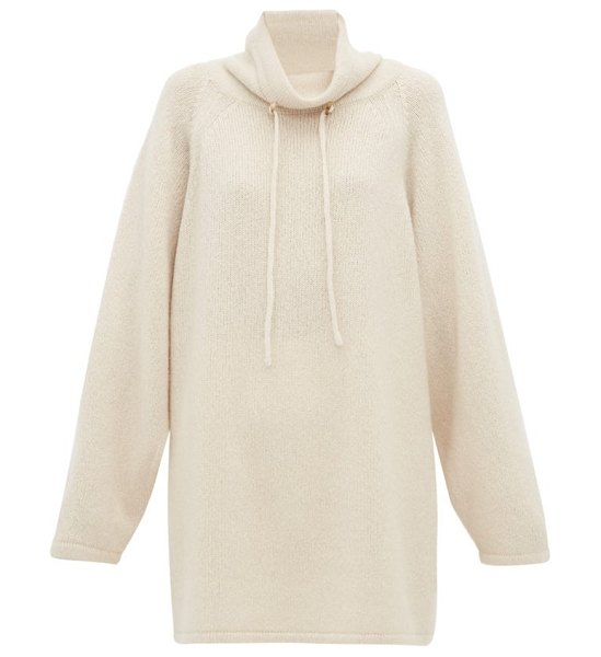 THE ROW myrnia cashmere blend sweater in ivory