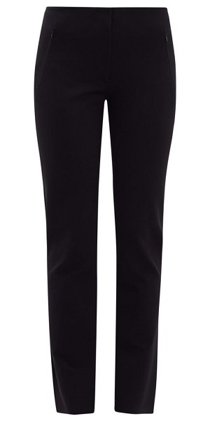 THE ROW nicolai stretch-crepe trousers in black