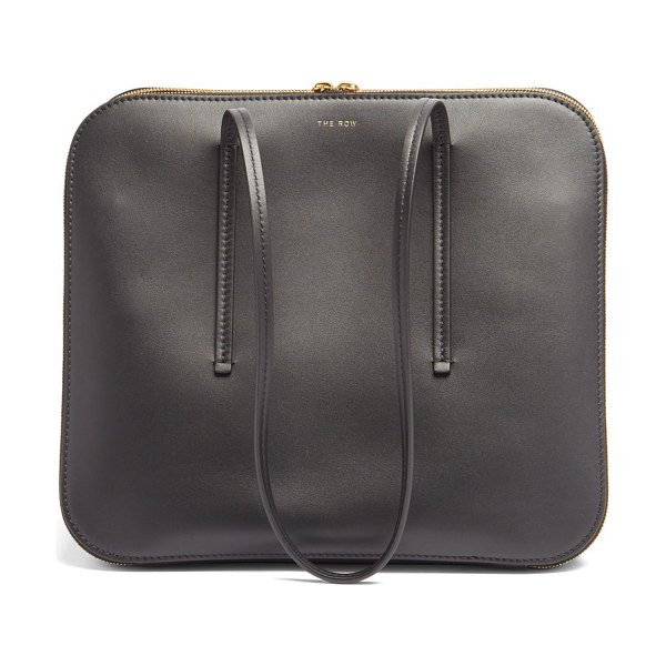 THE ROW siamese leather bag in black