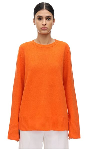 THE ROW Sibel wool & cashmere knit sweater in orange