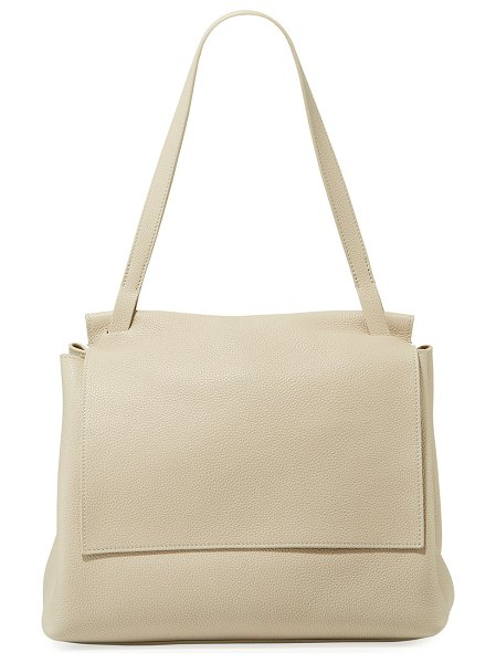 THE ROW Sidekick Two Fine Calf Leather Shoulder Bag in eggshell - THE ROW fine-grained calfskin shoulder bag. Flat...