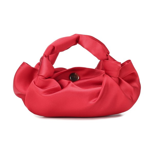 THE ROW the ascot satin clutch in red