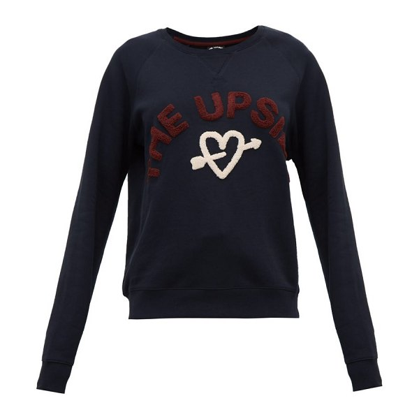 THE UPSIDE beaming hearts cotton sweatshirt in indigo