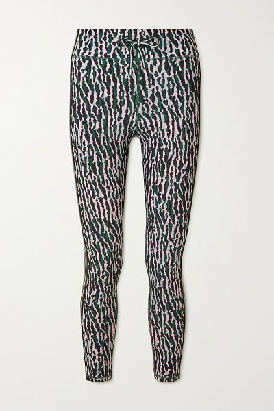 THE UPSIDE camouflage-print stretch leggings in green