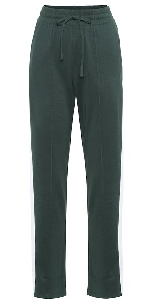 THE UPSIDE electric ny cotton-blend trackpants in green