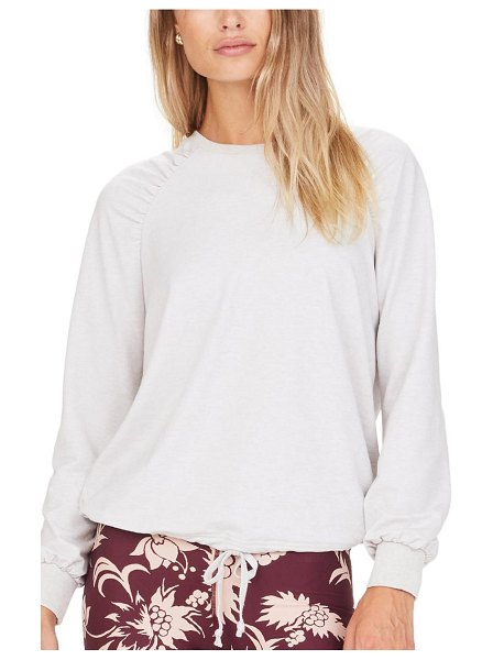 THE UPSIDE marion crewneck shirt in white