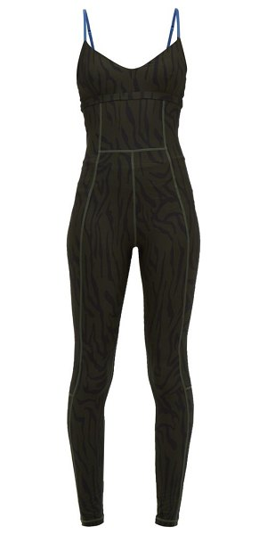 THE UPSIDE midnight tiger stretch jersey jumpsuit in black khaki