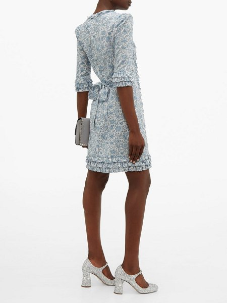 THE VAMPIRE'S WIFE cate mini floral-print cotton dress in blue white
