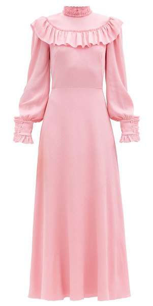 THE VAMPIRE'S WIFE the firefly ruffled silk-blend dress in pink