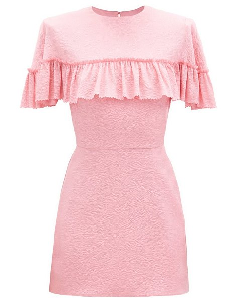 THE VAMPIRE'S WIFE the nearly nuthin' silk-blend mini dress in pink