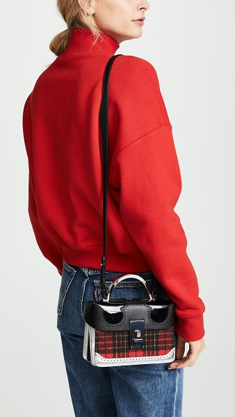 THE VOLON exclusive data alice satchel in red check