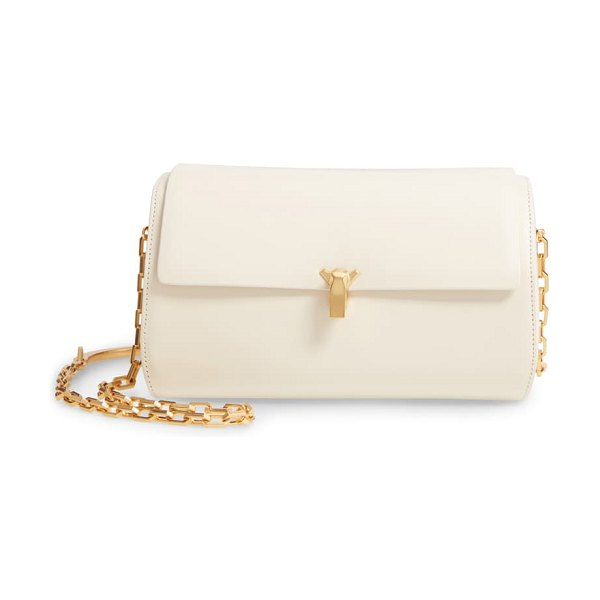THE VOLON po trunk leather shoulder bag in white