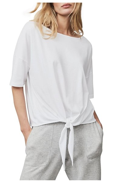 THE WHITE COMPANY tie hem t-shirt in white