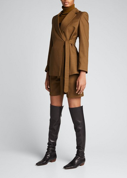 Thebe Magugu Wool Wrap Jacket in olive