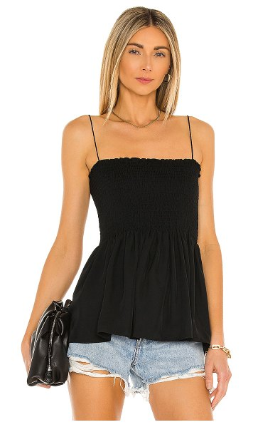 Theory bustier top in black