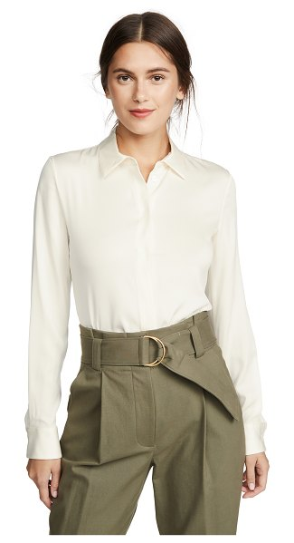 Theory classic fitted shirt in ivory