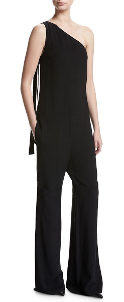 7b8ac2c2914f Theory Eilidh Rosina Crepe One-Shoulder Jumpsuit in Black