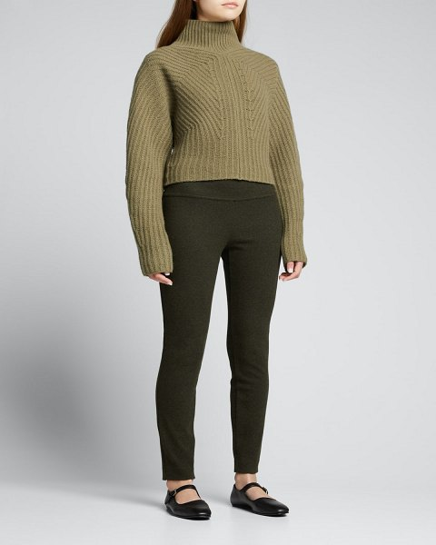 Theory Felted Wool-Cashmere Leggings in hunter multi