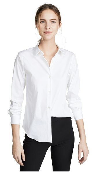 Theory luxe tenia button down blouse in white