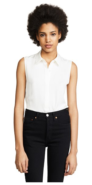 Theory modern tanelis blouse in ivory
