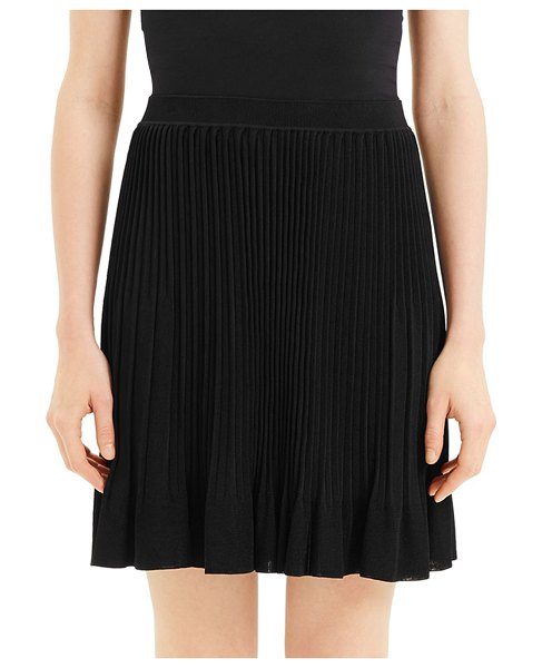 Theory Pleated Knit Skirt in black