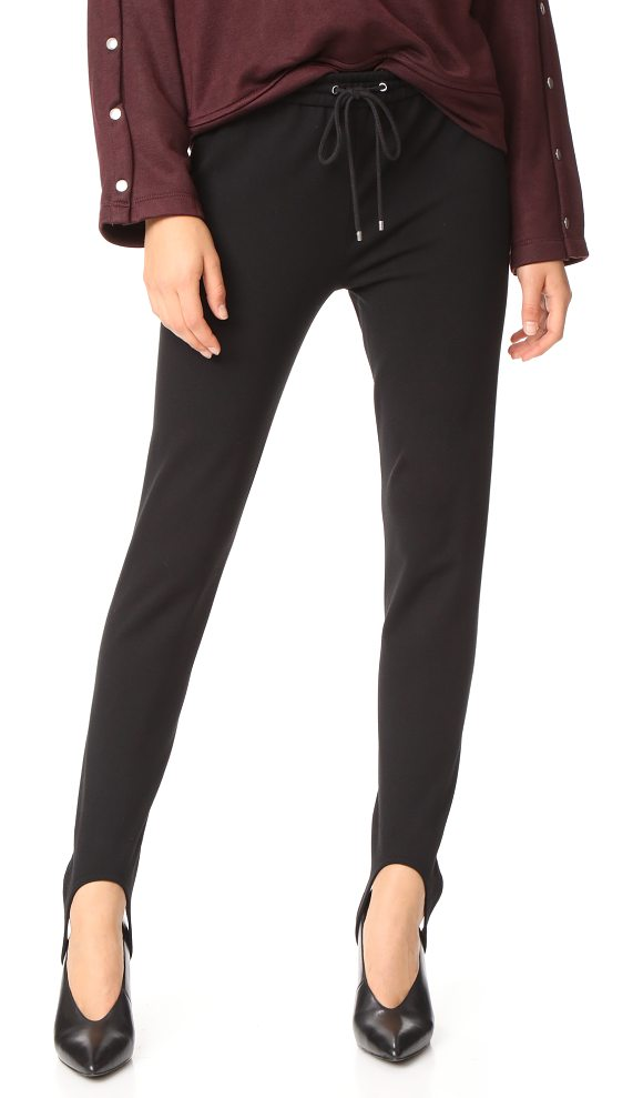 3242e254dd7de Theory Pull On Stirrup Pants in Black | Shopstasy