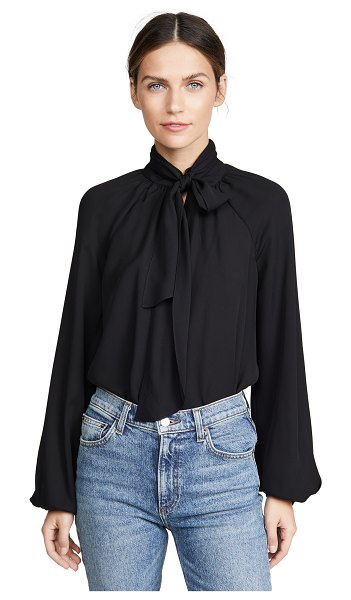 Theory scarf top in black