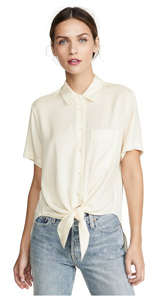Theory tie front top in ivory