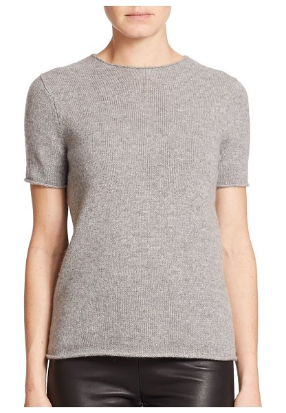 Theory tolleree cashmere tee in black,grey