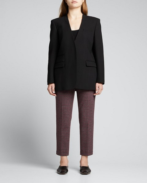 Theory Treeca Collins Knit Pull-On Pants in merlot multi