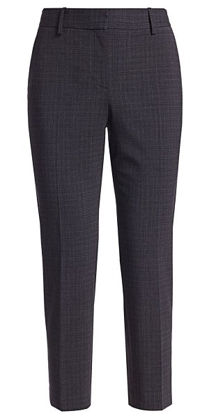 Theory treeca wool tailored pants in navy multi