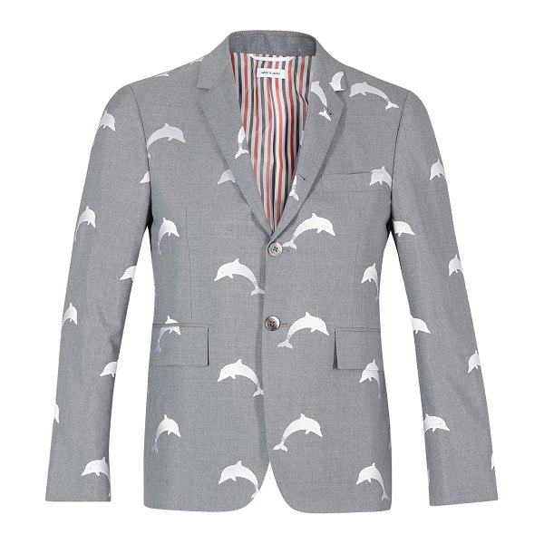 Thom Browne Dolphin detail blazer in med grey