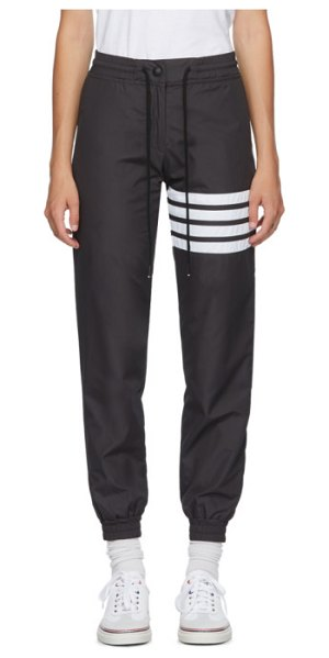 Thom Browne grey 4-bar track pants in 015 charcoa