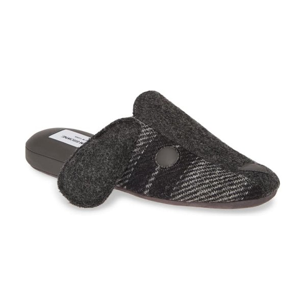Thom Browne hector wool slipper in light grey