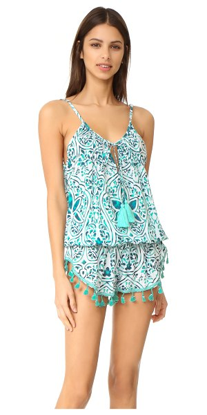 TIARE HAWAII bahia mar romper in stained positive teal/navy