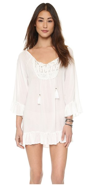 TIARE HAWAII cabana tunic in off white