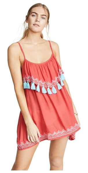 TIARE HAWAII holter mini dress in pink