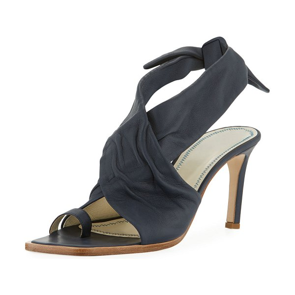 Tibi Axel Glove Leather Sandals in blue