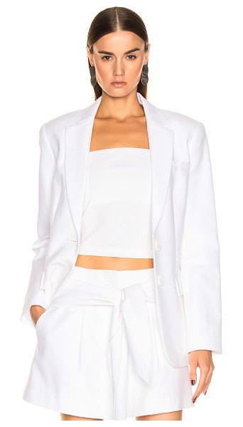 Tibi Cecilia Blazer in white - Cotton blend.  Made in China.  Dry clean only.  Button...