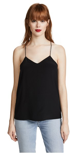 Tibi classic racer back camisole in black