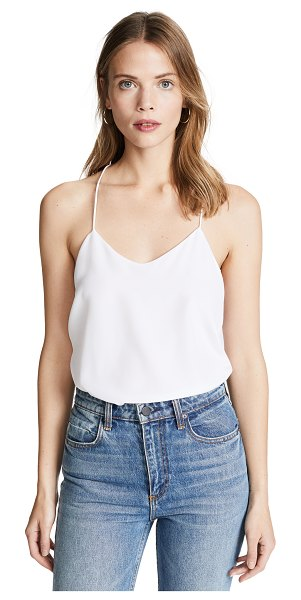 Tibi classic racer back camisole in white