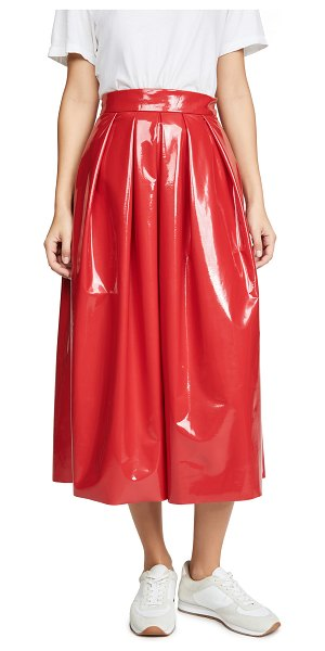 Tibi full skirt in red