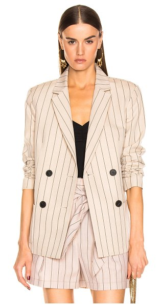 Tibi Stripe Suiting Blazer in neutral,stripes - Wool blend.  Made in China.  Dry clean only.  Button...
