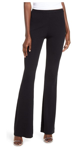 tiger Mist lucy knit flare pants in black