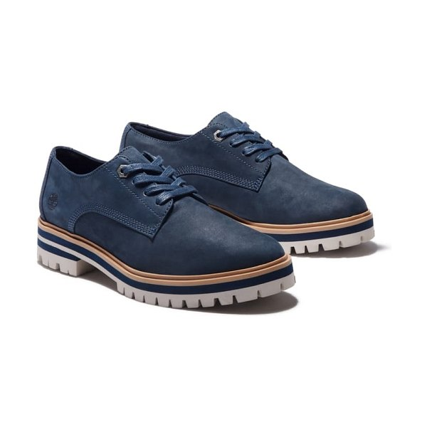Timberland london square derby in navy nubuck leather