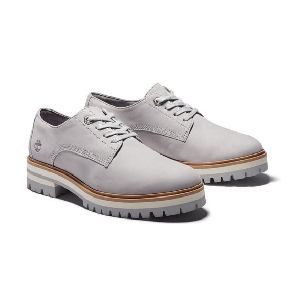 Timberland london square derby in medium grey nubuck leather